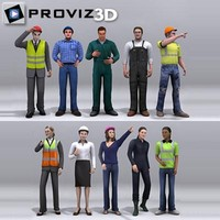 3D People: Workers People Vol. 01