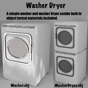 3d washer dryer combo model