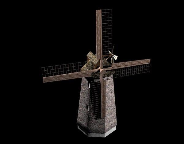 cinema4d windmill wind