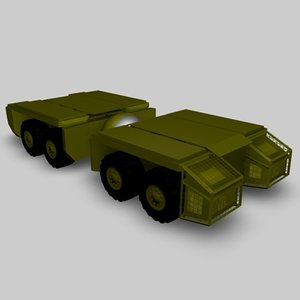 3d model heavy vehicle