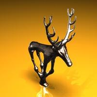 anatolian hittite deer statue 3d max
