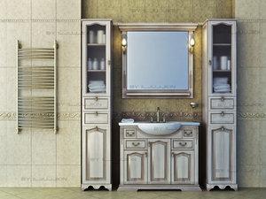 set classical furniture bathroom 3d max