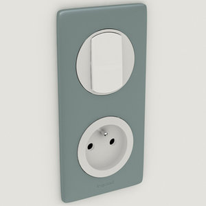legrand switch socket 3d 3ds