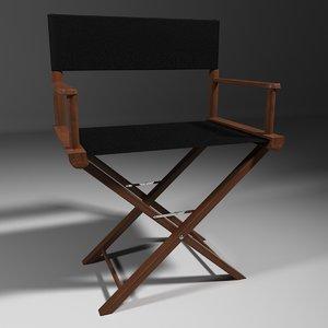 3d folding chair movie director model