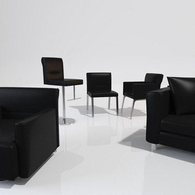 3d 3ds modern seating amenities