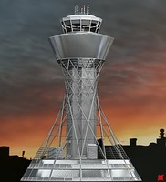 control tower 3d max