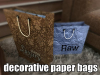 3d decorative paper bags model