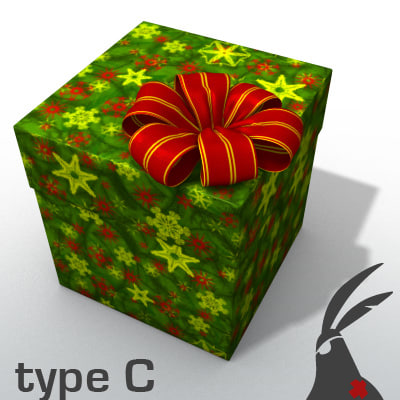 3d model of gift box types