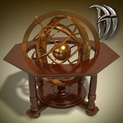 alchemist globe 3d max