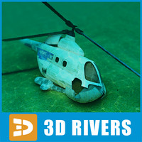 3dsmax sunken helicopter objects
