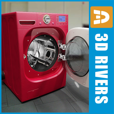 red dryer 3d model