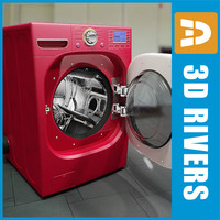 red dryer 3d model