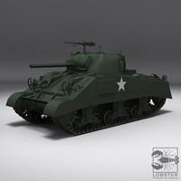 3d max wwii sherman tank m4