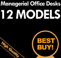 3d small 12 managerial office desks