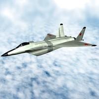 multiroll fighter aircraft mig 3d model