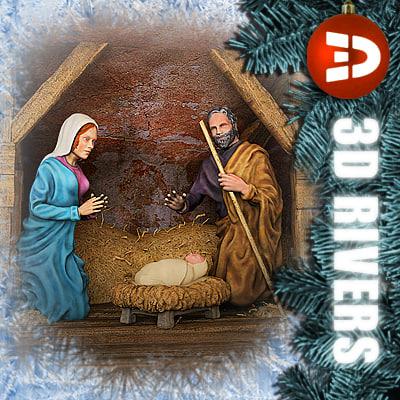 nativity scene obj