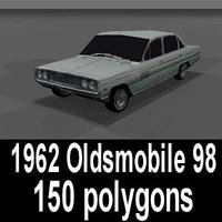 3d 1962 oldsmobile 98 model