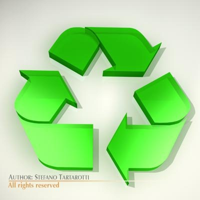 3d model recycling logo