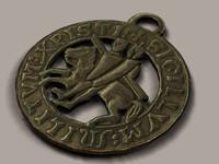3d templar medallion