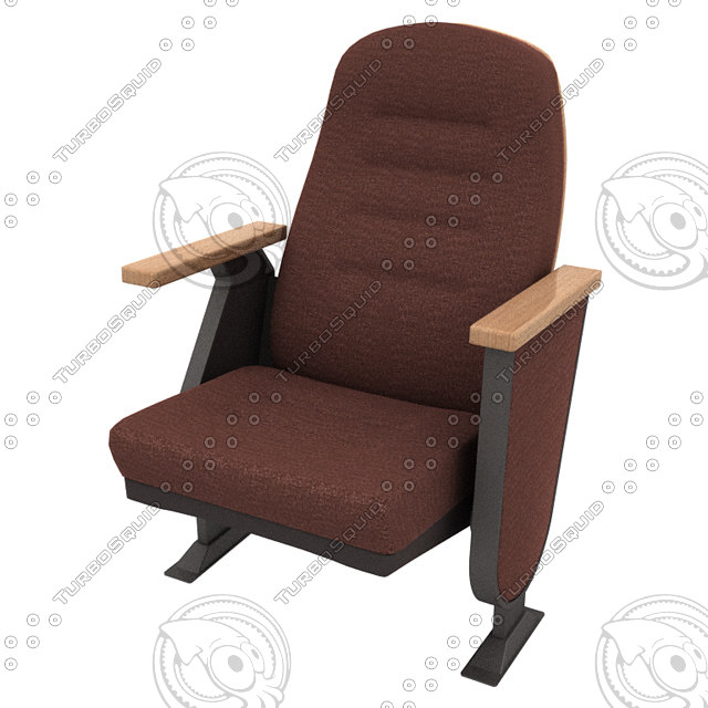 3d model modeled auditorium theater chair