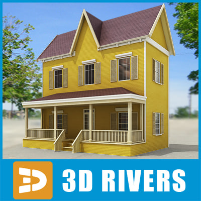 maya small town house building