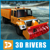 3d model winter vehicle snow removal