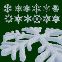 snowflakes snow 3d model