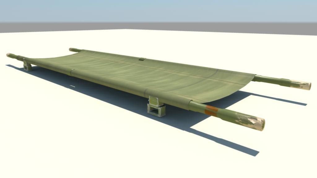 military stretcher 3d model