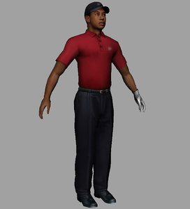 3d tiger golfer model
