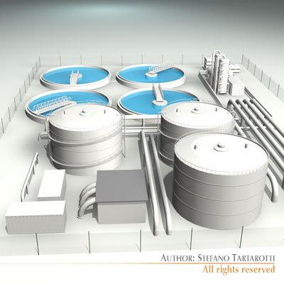3d model treatment plant