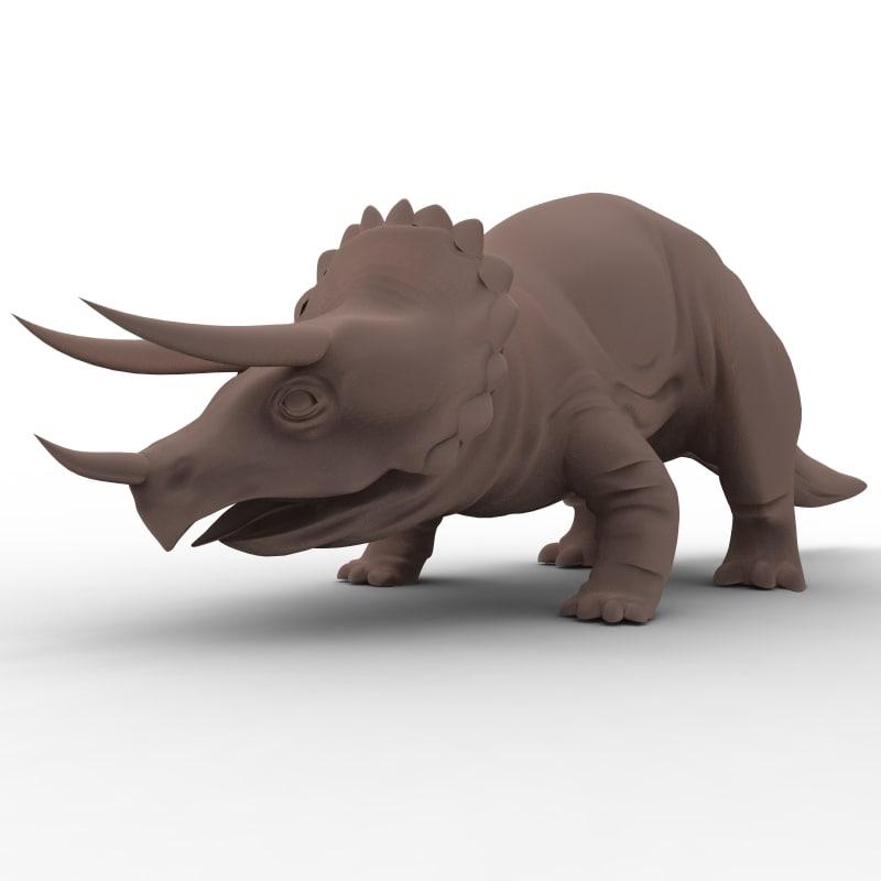 triceratops dinosaur ceratopsid 3d model