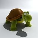 cartoon turtle 3d max