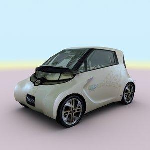 3d model of 2010 toyota ft-ev ii
