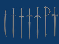 Set of seven swords