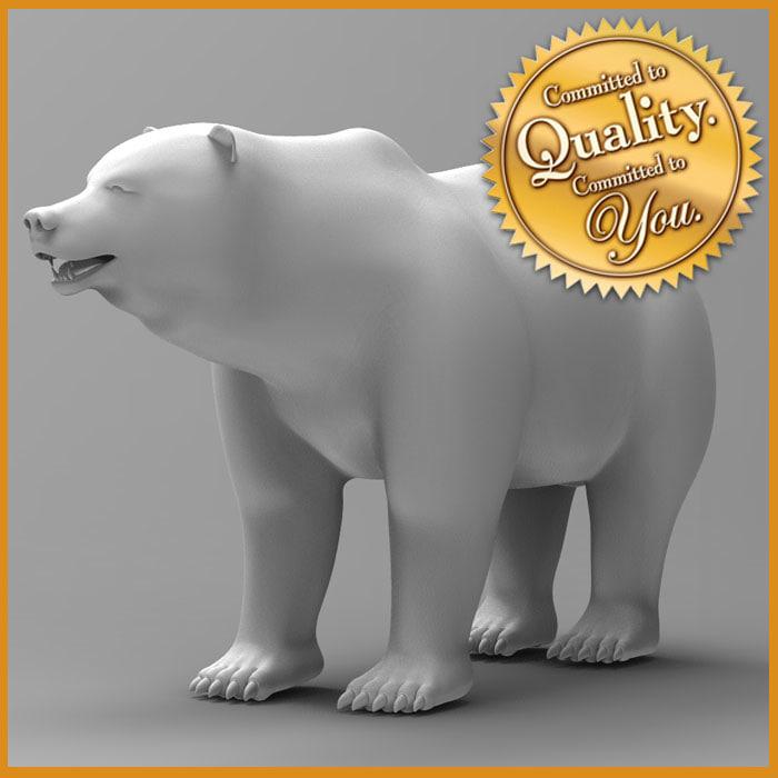 bearstatue bear statue 3d max