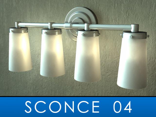 3d model sconce bulb