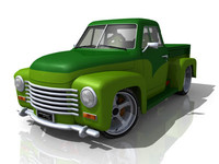 1949 chev pickup custom 3d ma