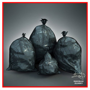 3ds max garbage bags realistic