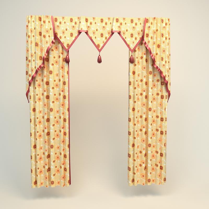 3d max curtain
