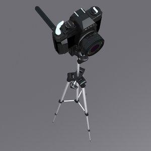 3d camera suport model