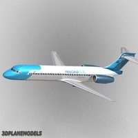 3d model of b717-200 mexicanaclick