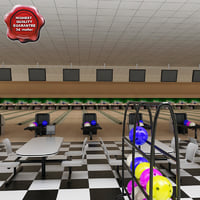 3ds bowling interior modelled