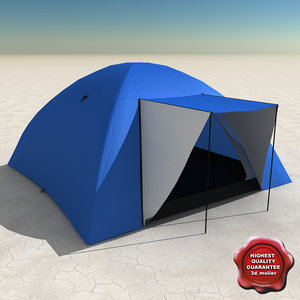 camping tent v2 3d 3ds