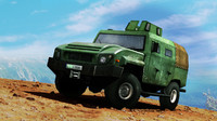 military vehicle amz tur 3d model