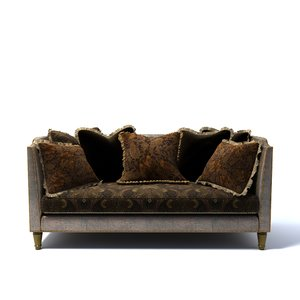 drexel - hardwick sofa 3d model
