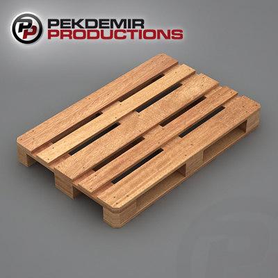 3d model of wooden pallet