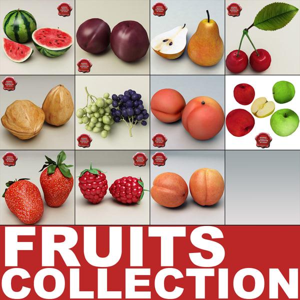 3d fruits v1 model