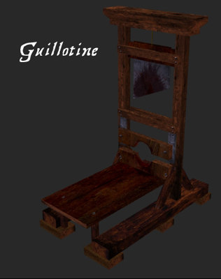 guillotine fantasy medieval ma