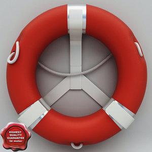 lifebuoy modelled c4d