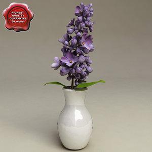 3d model lilac flower vase